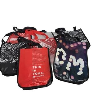 Lululemon Reusable Small Tote Bags- Lot of 7